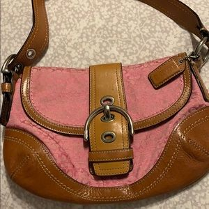 Small pink coach purse